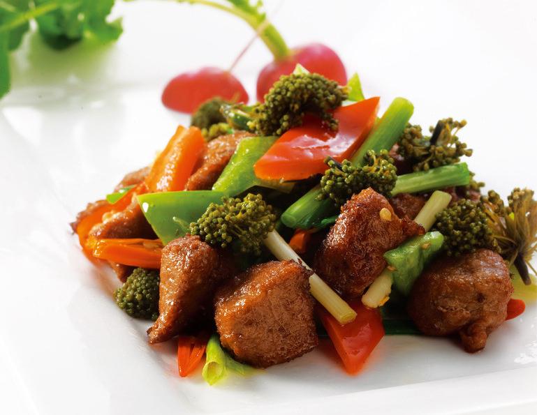 Hoa tam thất xào thịt bò món ngon bổ dưỡng