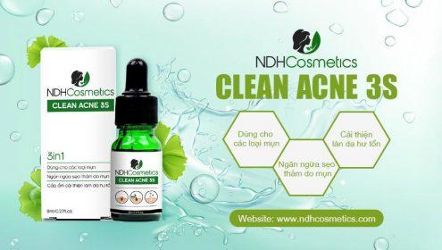 Clean Acne 3S NDHCosmetics diệt mụn với cơ chế hoàn toàn khác biệt